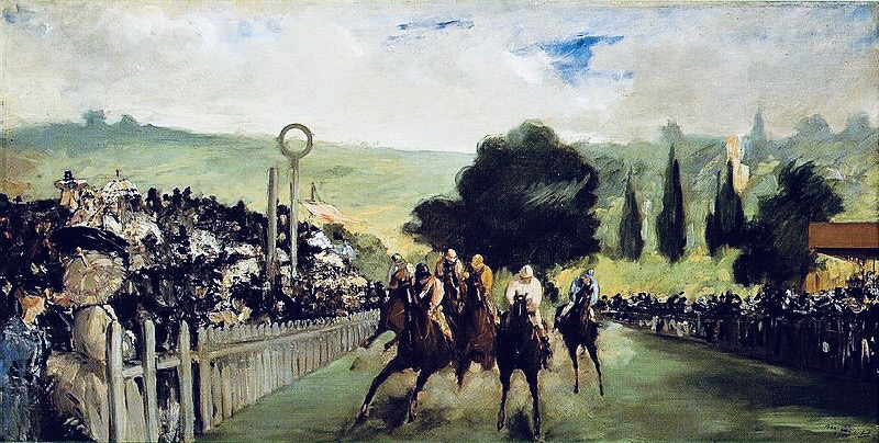Races at Longchamp - Édouard Manet, 1867