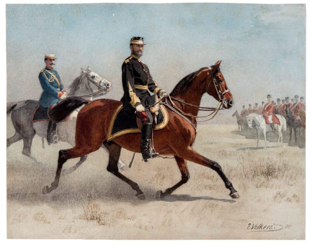 Emil Volkers, Carol I exerciții militare